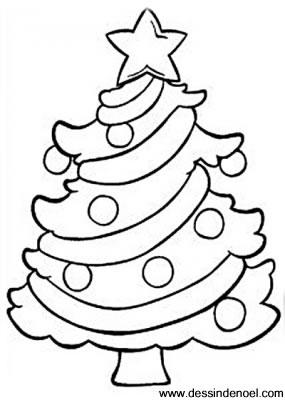 Dessin arbre de Noël
