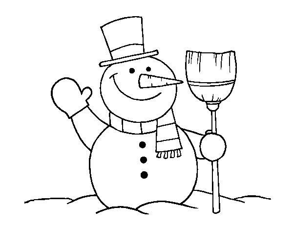 Desssin Bonhomme de neige
